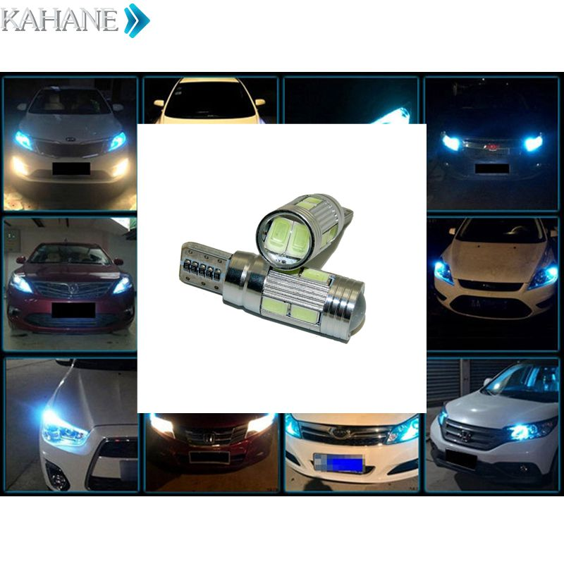 2PCS T10 6 LED W5W Car LED Auto Lamp 12V Light Error Parking Fog Light VW Touareg Passat B7 B5 B6 Jetta Golf 6 7 5