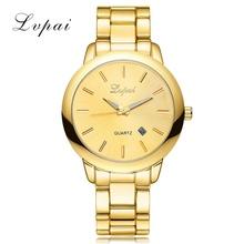 Buy Lvpai Brand Casual Women Dress Watch Men Unisex Gold Geneva Wristwatch Quartz Ladies Stainless Steel Calender Quartz Watch for $7.99 in AliExpress store