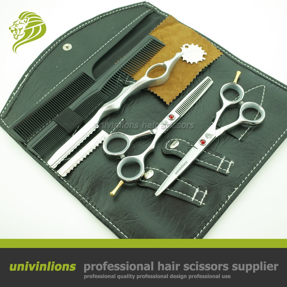 With Straight Razor Scissor Gift  Univin 6.0 Hair Scissors Barber Razor Thinning Shear 440C Quality Hand Made<br><br>Aliexpress