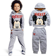 2PCs Baby Boys Kids minie Mouse Hooded Tops Pants Trousers Tracksuit Outfits (China (Mainland))