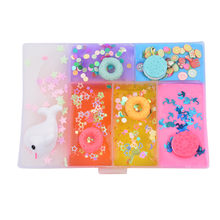 4 Color DIY Fruit Slime Toys Crystal Mud Fluffy Slime Animal Accessories Cloud Slime Supplies Magic Sand Antistress Putty Clay50(China)