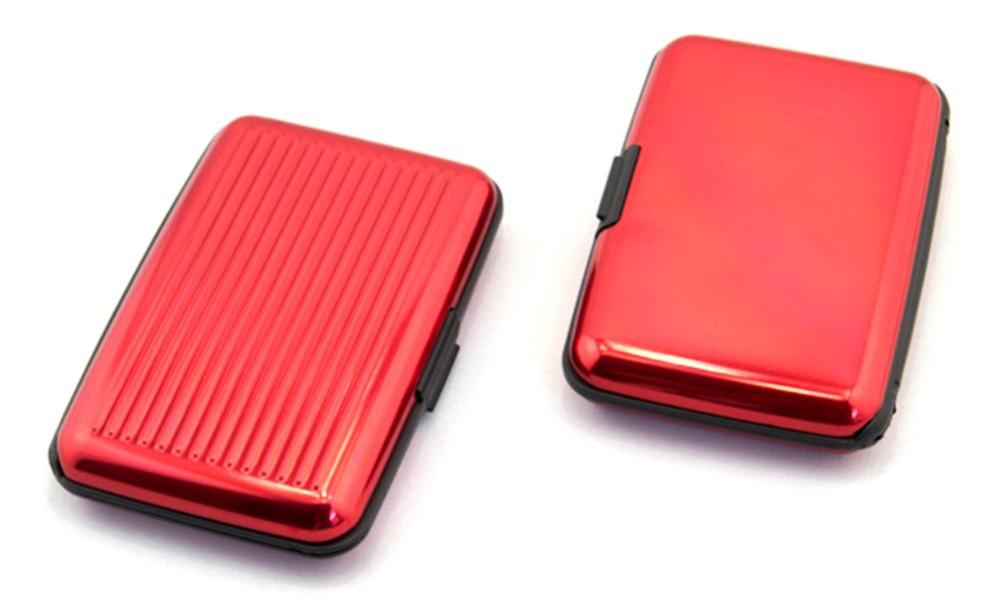Men Business password plastic aluminium credit card holder waterproof men wallets case box ZH025