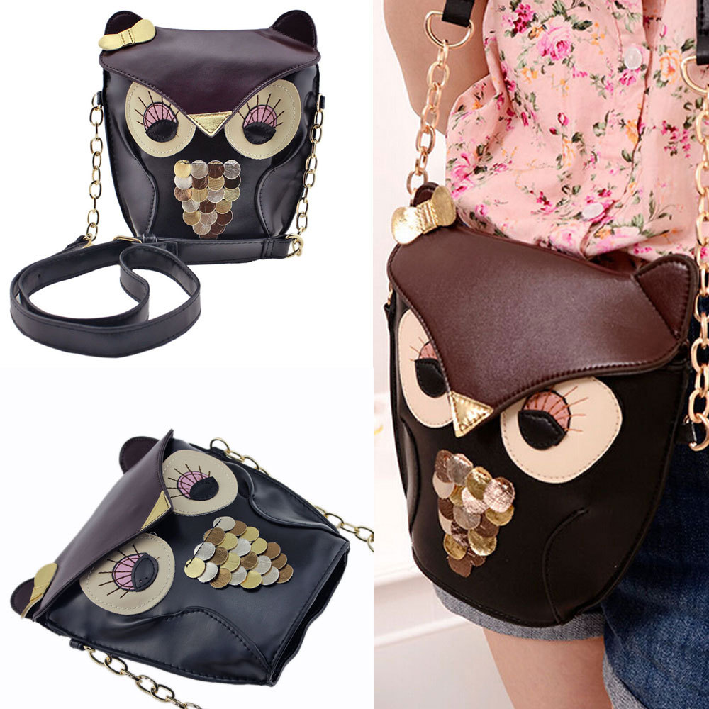 2015 Hotsale Hot Promotion fashion women leather PU soft handbag cartoon bag owl fox designer shoulder bags women messenger bag(China (Mainland))