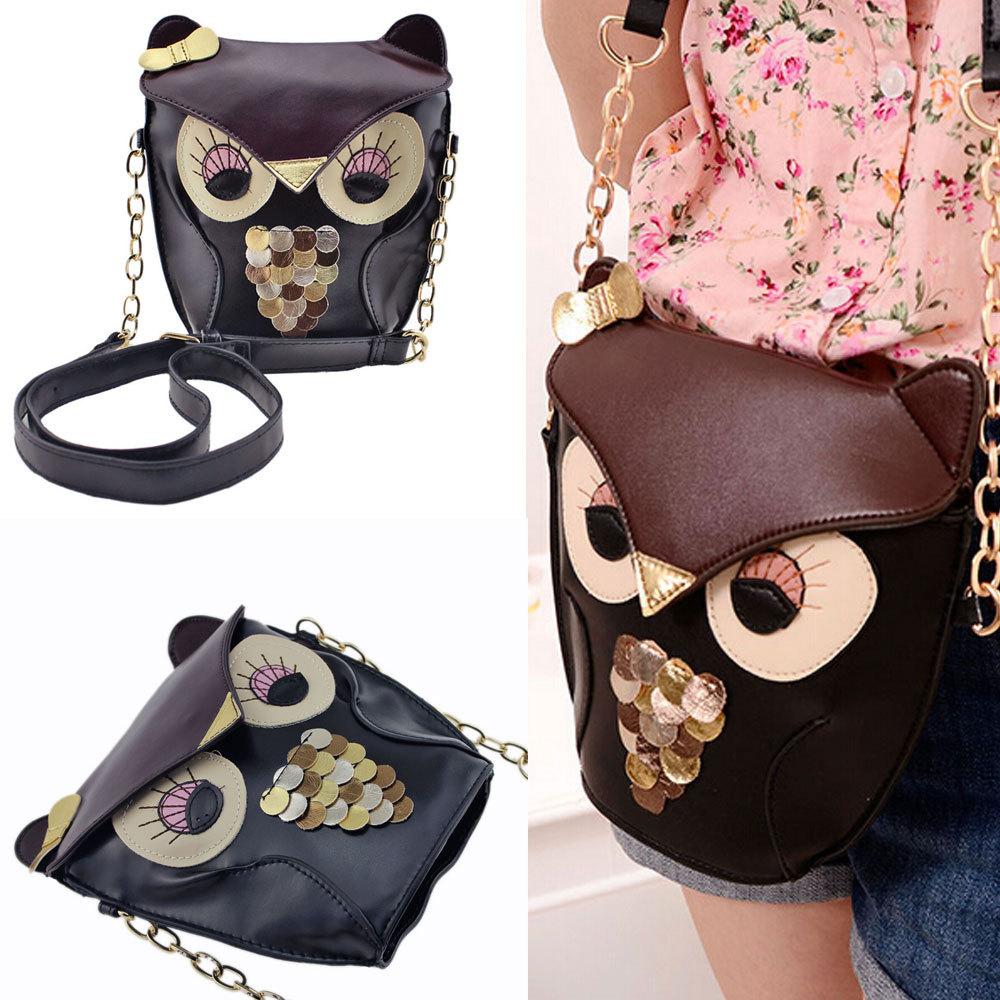 2015 Hotsale Hot Promotion fashion women leather PU soft handbag cartoon bag owl fox designer shoulder bags women messenger bag(China (Mainland))