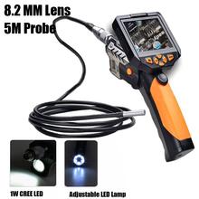 "NTS200 3.5"" LCD Digital Borescope USB Endoscope 8.2mm 5M Probe Inspection Video Endoscope Camera Waterproof Zoom Rotate Flip(China (Mainland))"