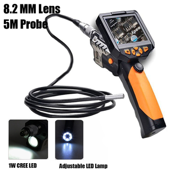 "New NTS200 3.5"" LCD Digital Borescope USB Endoscope 8.2 mm Zoom 5M Probe Cable Inspection Camera Free shipping"