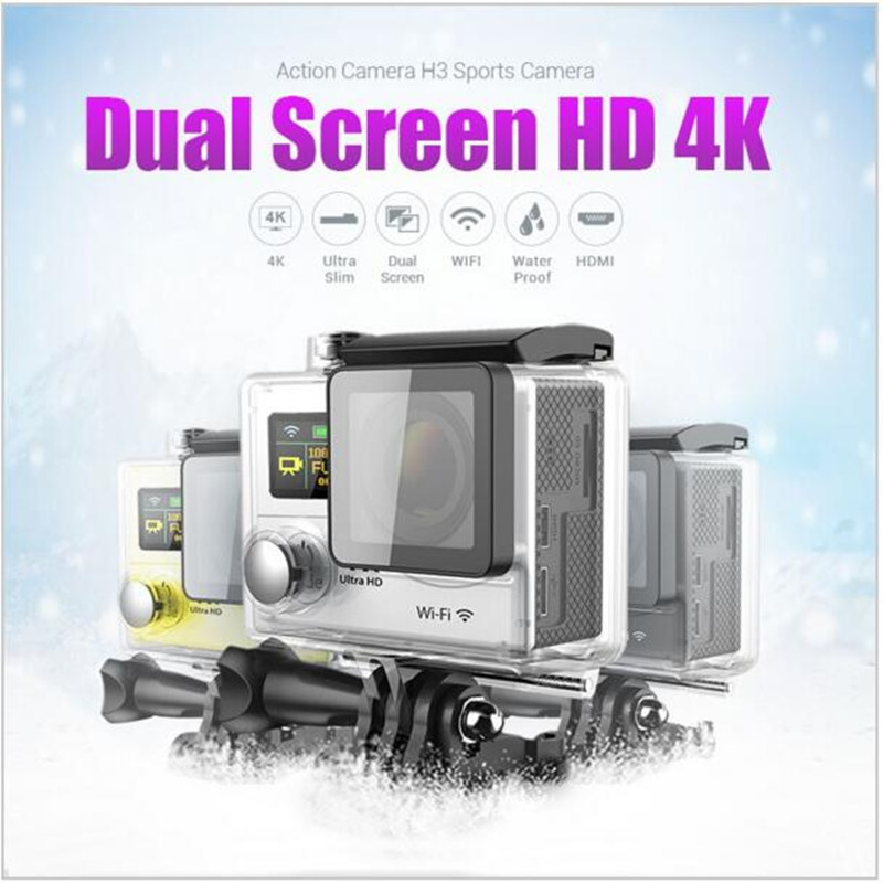Topjoy H3 4K Ultra HD WIFI Action Camera 2 Dual Screen Sport Camera 30M Waterproof DV 6G 170D Lens Helmet Camcorder<br><br>Aliexpress