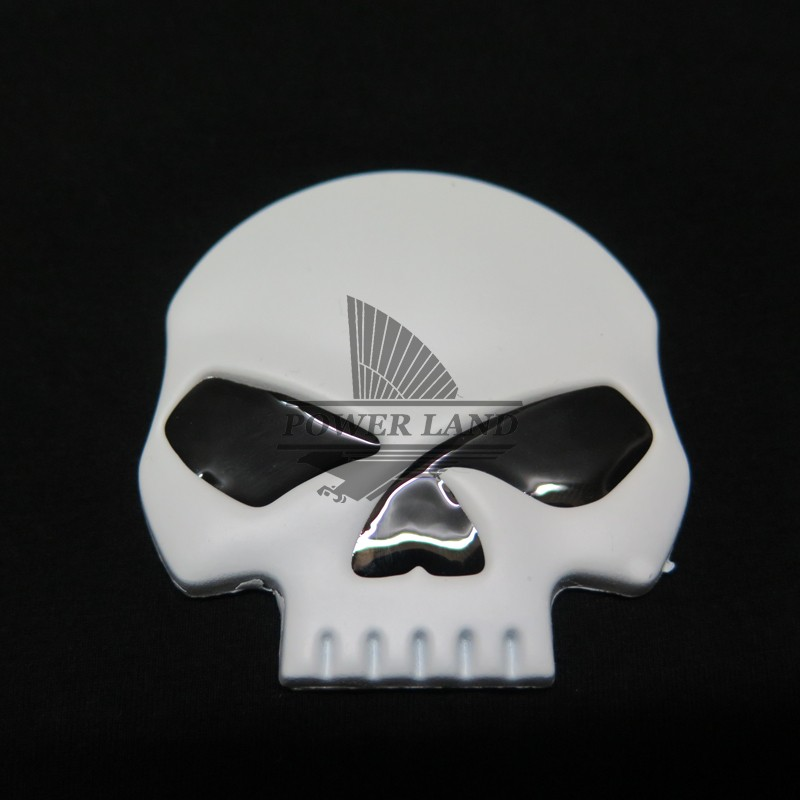 White+Black Skull Stickers 3D Demon Bone Badge Emblem Fairing Decal Sticker Fits for Harley And Most Motorcycle Car Auto Body(China (Mainland))