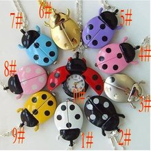 1pcs free shipping beetle Necklace Pocket Pendant Watch Child Girl Watch Fashion