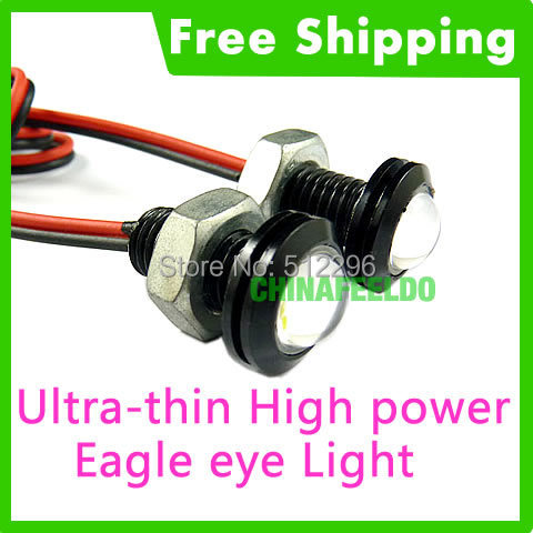 2pcs white 3w high power led larger lens ultra thin car