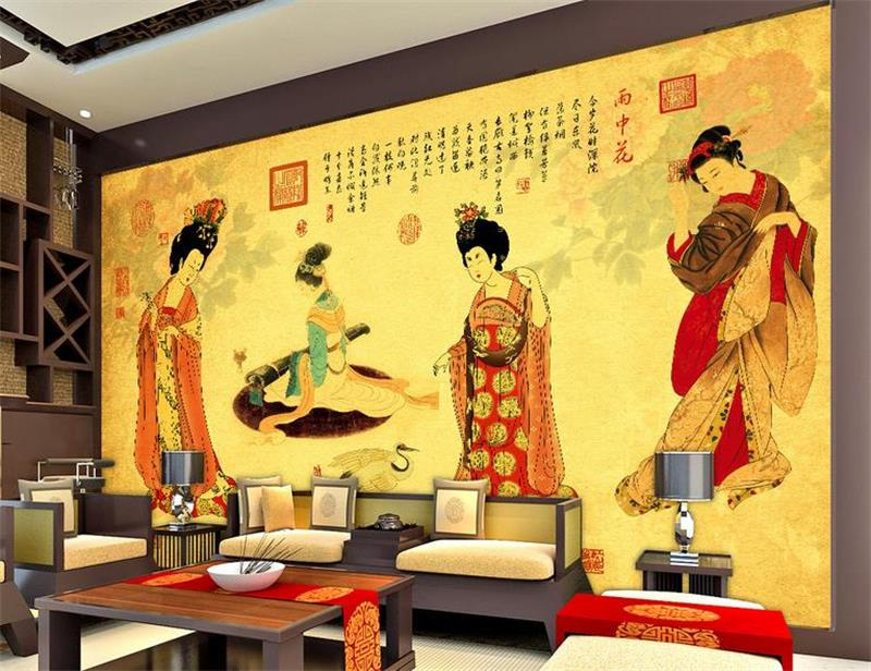 3d wallpaper custom photo non woven mural picture wall for Classic mural painting