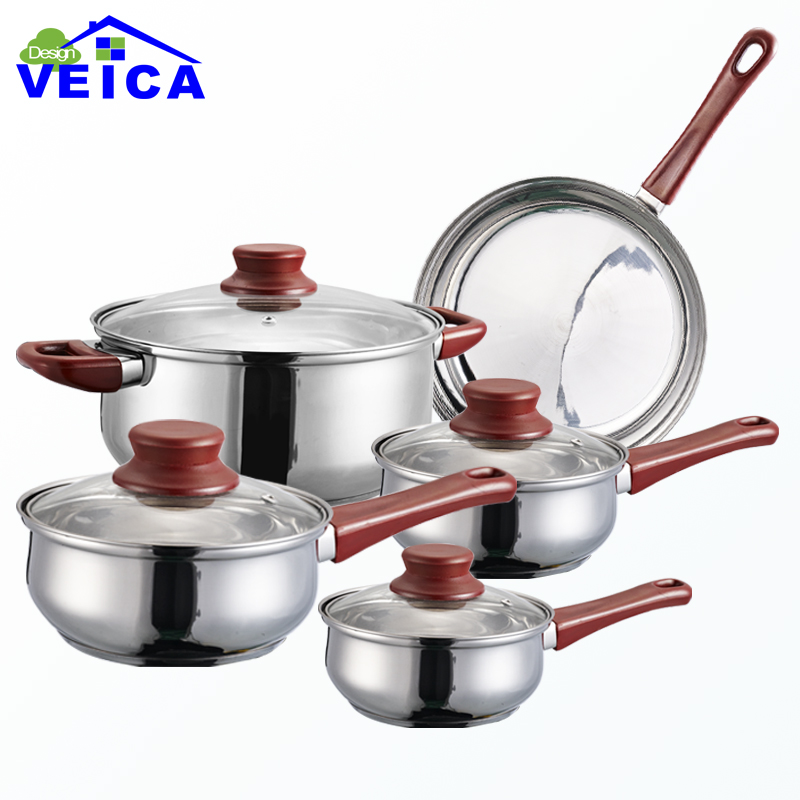 2016 Cookware Set High Grade Stainless Steel 5 Pieces