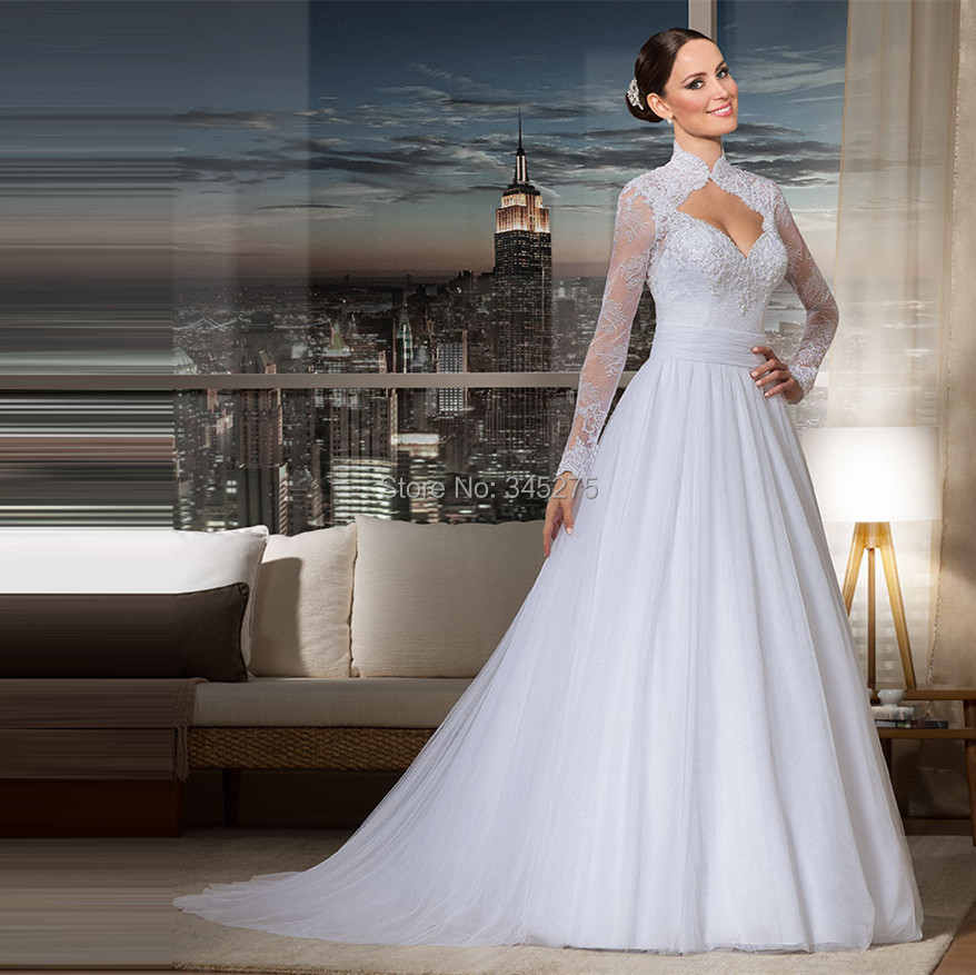 Buy brazil unique lace tulle queen anne for Queen anne neckline wedding dress