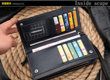 hot sales men s wallet fashion brand zipper leather purse card holder multifunctional business long man