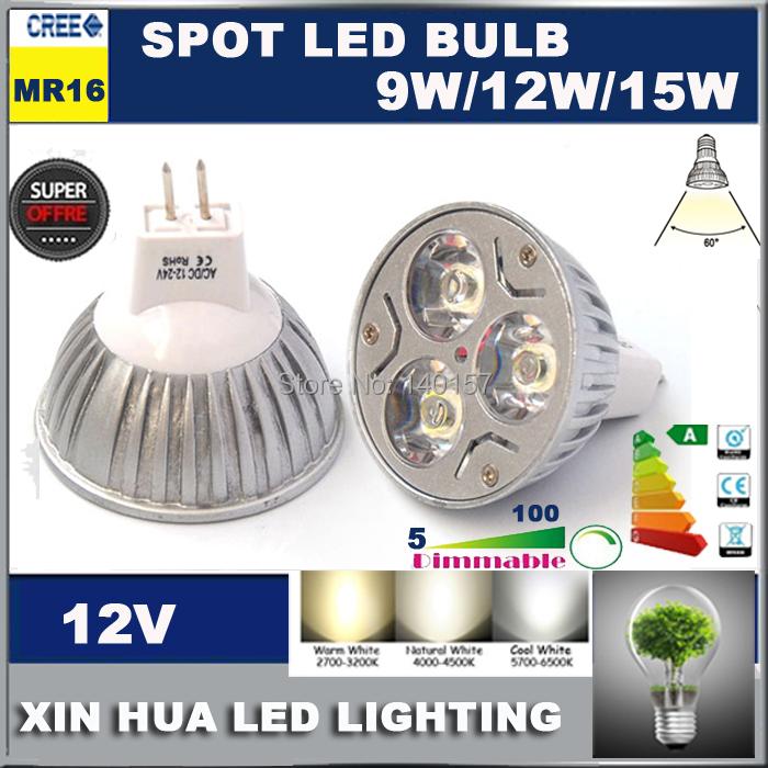High brightness LED Bulb Lamp MR16 GU5.3 12V 9w 12w 15w Warm White/Pure White 220V AC210-240V led lamp MR16 G5.3 led bulb lamp(China (Mainland))