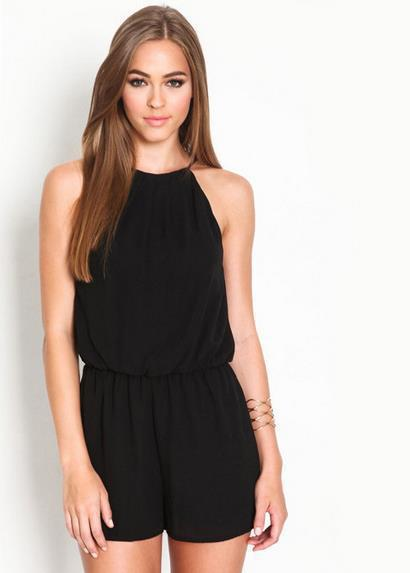Black Short Jumpsuit | Fashion Ql