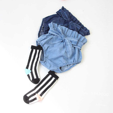 Infant Toddler Girls shorts Diper Cover Ruffled Panties Baby Girls For  Baby PP Shorts jeans Pant Bloomers 2colors Free Shipping(China (Mainland))