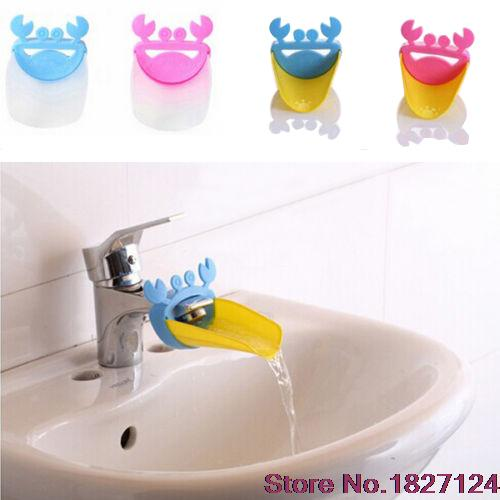 2015 Popular Style Cute Bathroom Water Faucet Extender For Kid Hand Washing Child Gutter Sink Guide(China (Mainland))