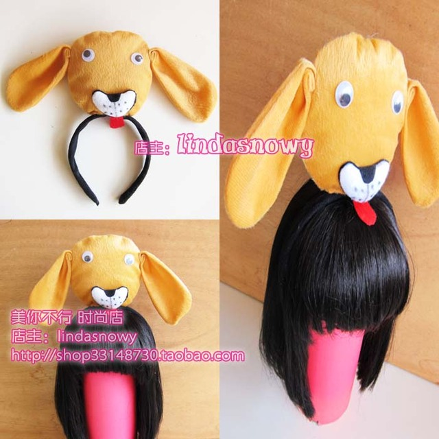 Photography props animal headband hair accessory ear plush toy