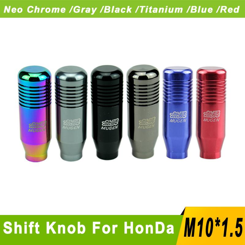 Mugen Aluminum Gear Knob M10x1.5 Cool Gear Shift Knob Mugen For Honda Acura Jdm Shift Knob Gear Knobs Mugen Gear handles(China (Mainland))