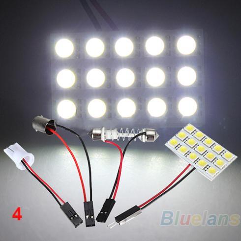 9 12 15 20 24 48 LED 5050 SMD Car Interior Reading Doom Light Panel T10