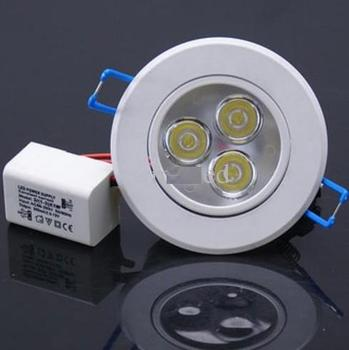 ot sale High Power Dimmable 120 Degree CREE LED Ceiling Lamp 3W 85~265V Down Light 300LM Bulb