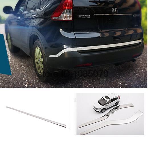 Accessories Fit For 2012 2013 2014 Honda Cr V Crv Chrome Rear Trunk Bumper Cover Trim Tailgate