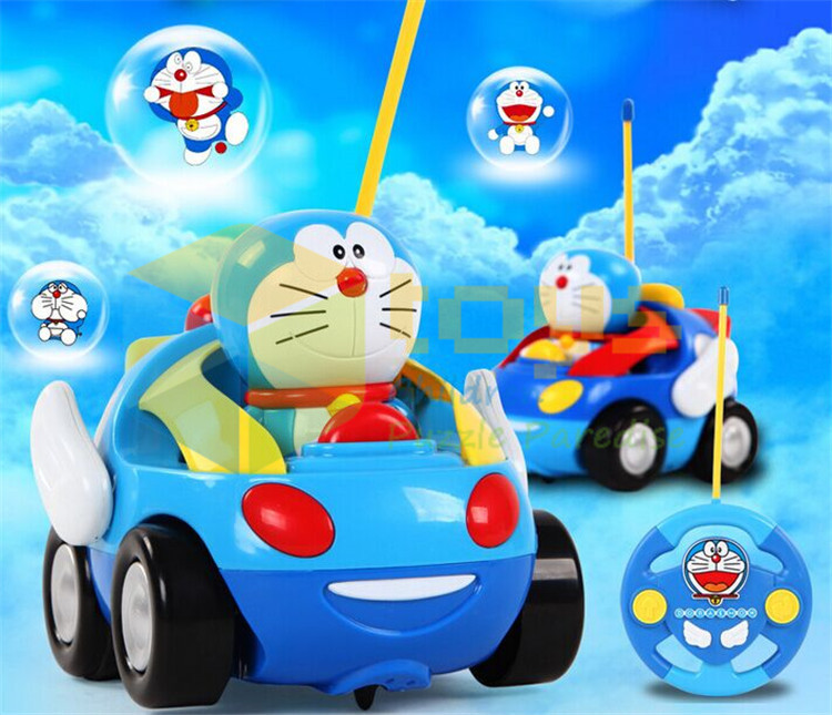 Japanese cartoon doraemon remote control racing car toys mini rc cars micro coke hotwheel toy cars cooper for kids free shipping(China (Mainland))