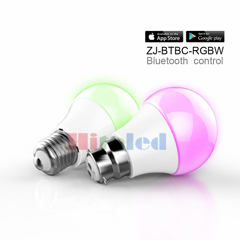 LED Bluetooth 4.5W RGBWW Bulb AC100-240V E27 White Connected to Phone LED 360 Bulb Dimmable Remote Control Bluetooth light(China (Mainland))