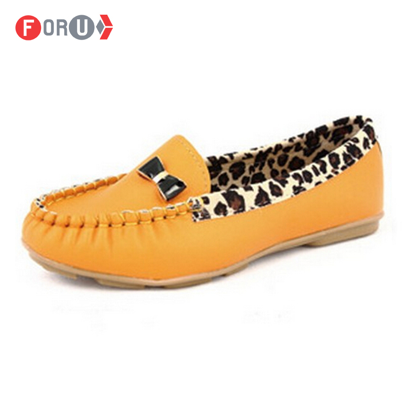 New 2014 women leather shoes women flats fashion leopard print shoes slip on woman loafer size 35~40 FL014<br><br>Aliexpress