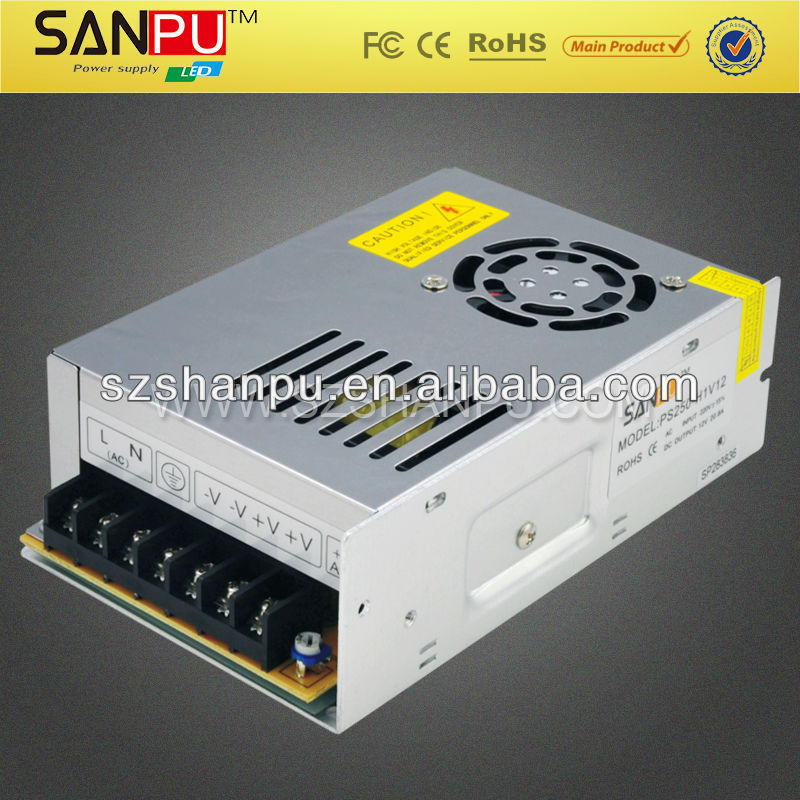 Shenzhen Manufacturers Hot Selling Led Driver 250w 10.5A 220V AC to DC 24V Switching Power Supply Indoor Power Source(China (Mainland))