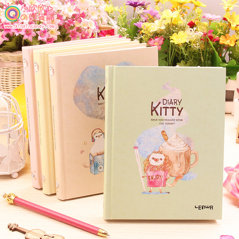 Здесь можно купить  Showtime Korean cute kitty hard surface fresh color illustration diary kraft paper notepad free shipping  Офисные и Школьные принадлежности