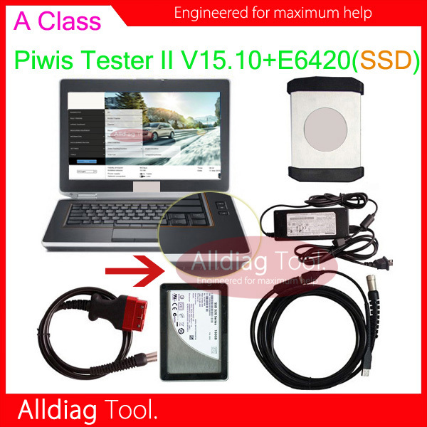 E6420 laptop with Piwis II tester ii A class Samtec interface + 160GB SSD installed software V15.100 support multi-languages(China (Mainland))
