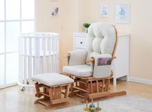American Wood Reclining Rocking Chair Rocker And Ottoman Living Room Furniture Modern Reclining Armchair Ottoman Chair Rocker(China (Mainland))
