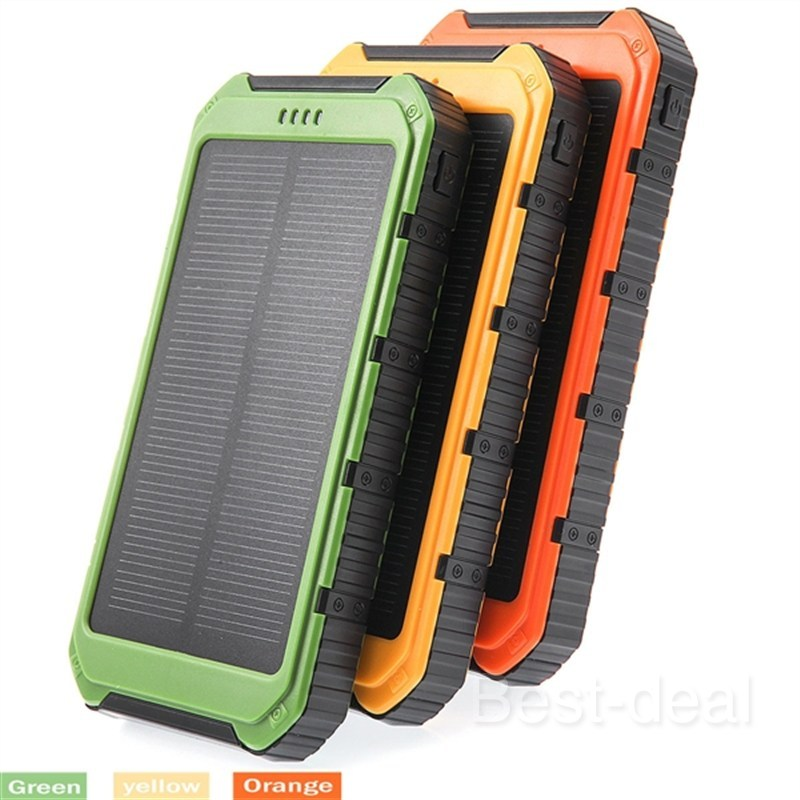 Sales! 10000mAh External Solar Battery Charger Solar Power Bank Batteries Dual USB Port w Flashlight for Iphone 6 Xiaomi HTC(China (Mainland))