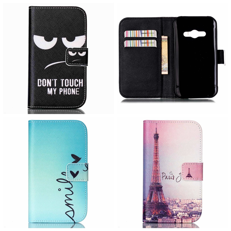 SM-G388F Art Print Pattern Flip Leather Wallet Cover Case For Samsung Galaxy Xcover 3 G388F Xcover3 G388 G388H Stand Fundas(China (Mainland))