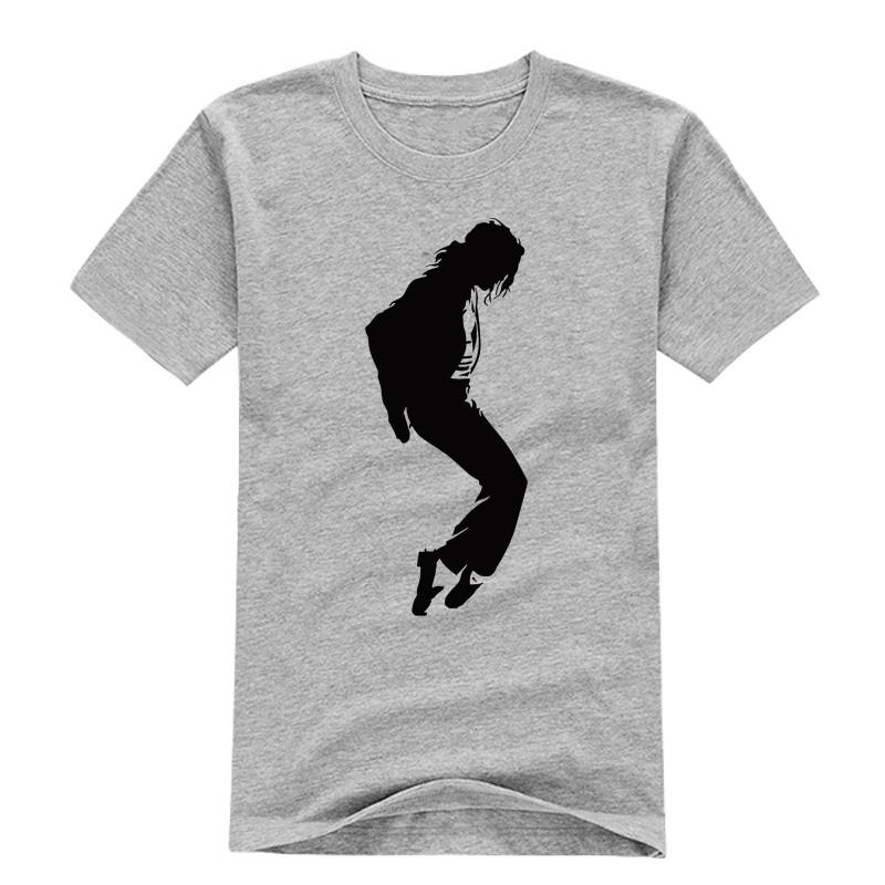 King Of Pop Michael Jackson Men T Shirts Round Neck Famous MJ Male t shirt Logo