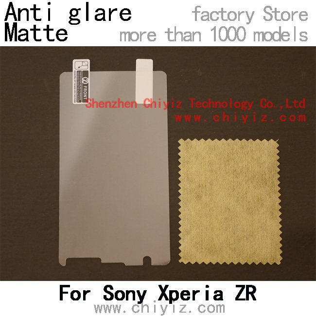 matte anti glare screen protector protective film for Sony Xperia ZR C5502 C5503 M36h