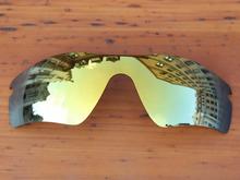 24K Golden Mirror Polarized Replacement Lenses For Radar Path Sunglasses Frame 100% UVA & UVB Protection