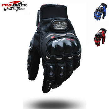 2015 Men Motorcycle Gloves Outdoor Sports Full Finger Knight Riding Motorbike 3D Breathable Mesh Fabric Racing Cycling Gloves