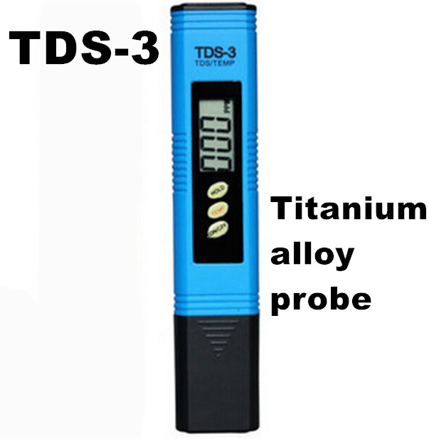 Portable Pen Portable Digital Water PH Meter Filter Measuring Water Quality Purity Tester TDS Meter Titanium alloy probe(China (Mainland))