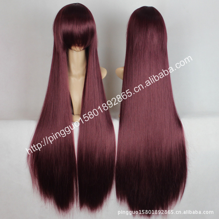 1 meter for cosplay wig five blood hands/dark red/xianjian himeji/AIDS education terrace 100 cm(China (Mainland))