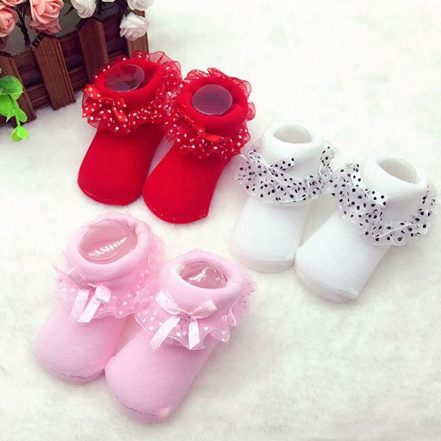 1 Пара Симпатичные Малышей Младенцы Хлопка Лодыжки Лук Носки Детские Девушки Принцесса Bowknots Носки Кружева Цветочные Обувь 0-6 Месяцев