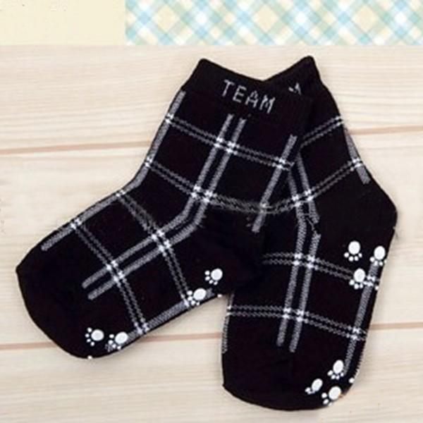 Fashion Kids Boys Infant Cotton Plaid Socks Anti-slip Children\'s Fashion Retro Socks(China (Mainland))