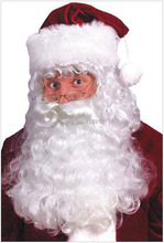 Free shipping Intimate lover to Europe and the United States men's Father Christmas COSPLAY white shoulder wig beard
