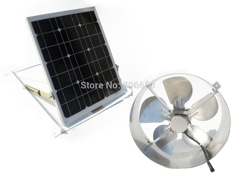 Online buy wholesale attic fan vent from china attic fan - Solar powered bathroom exhaust fan ...
