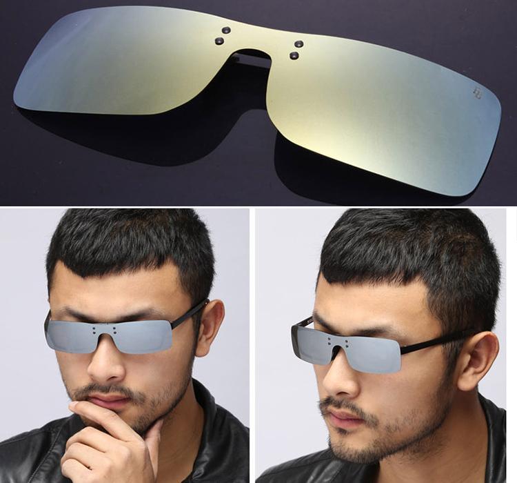 2015 summer style sunglasses New pattern Color Polarized Sunglasses One clip Sports myopia Polarized glasses clip(China (Mainland))