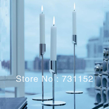 Home bar single candle metal candle holder stand-H28cm-2PCS/lot(China (Mainland))