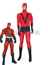 Red & Navy Blue Giant Man Costume Spandex Halloween Cosplay Superhero fullbody Costumes Hot Sale Zentai Suit