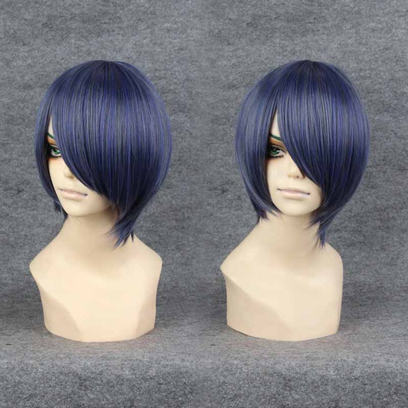 Anime Black Butler Ciel Phantomhive cosplay wig 2016 new fashion women/ mens Short gray and blue mixed layered short wig <br><br>Aliexpress